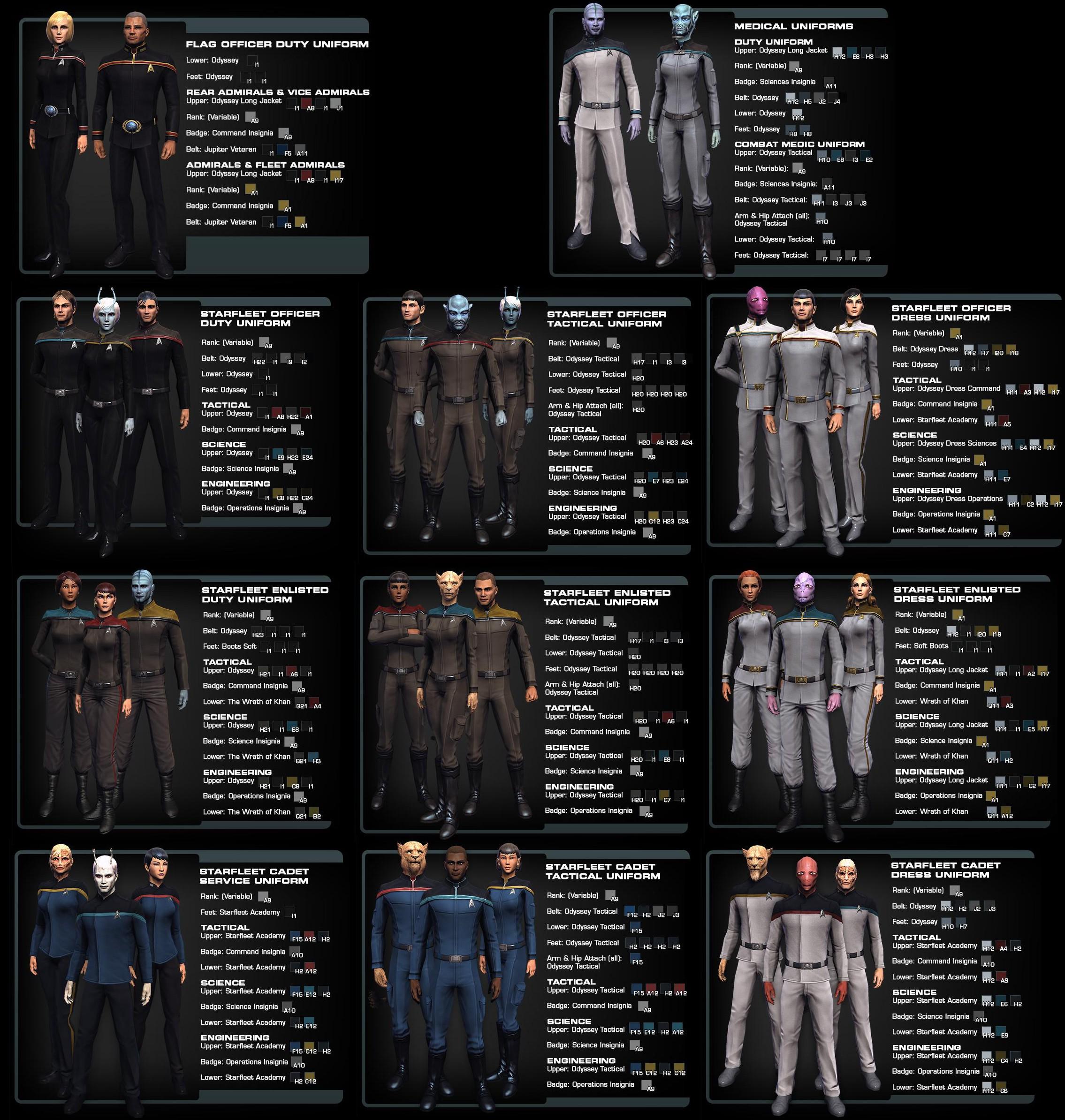 I've merged my favourite Star Trek uniforms with my ...